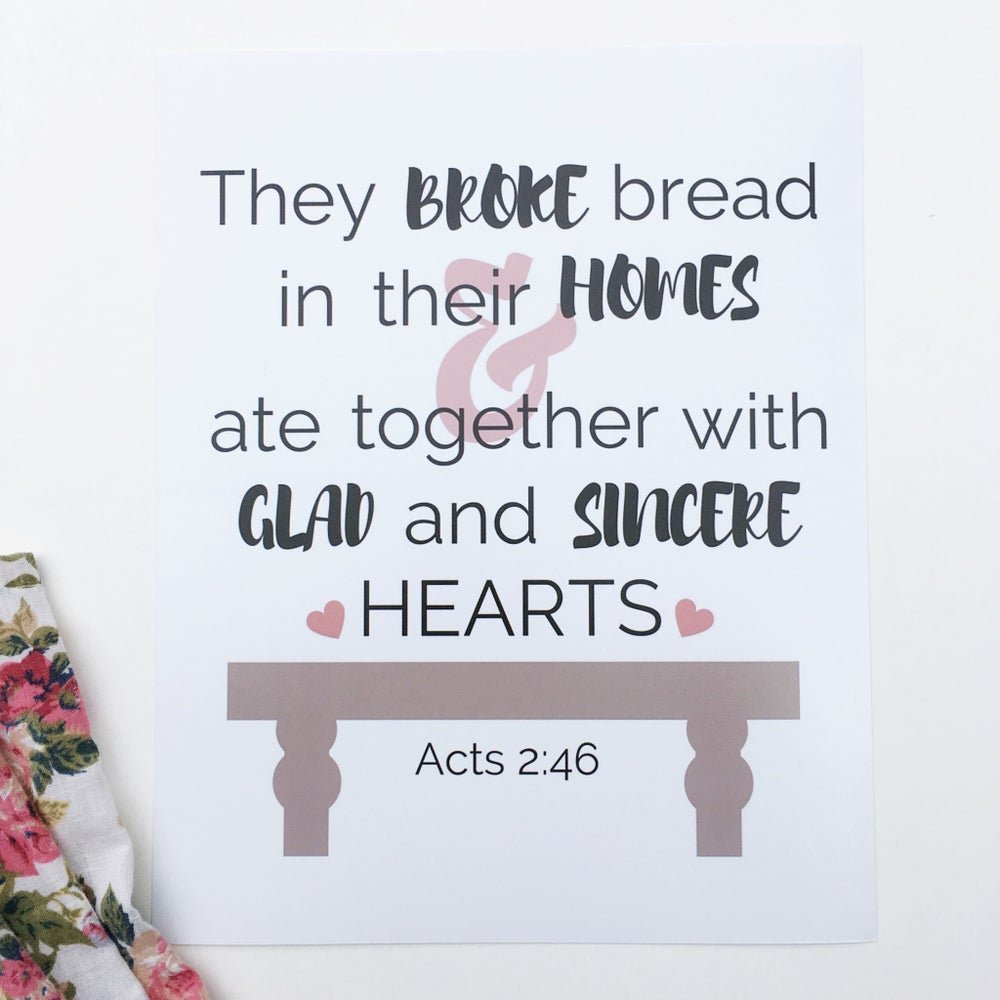 Image of Acts 2:46 {8 x 10}