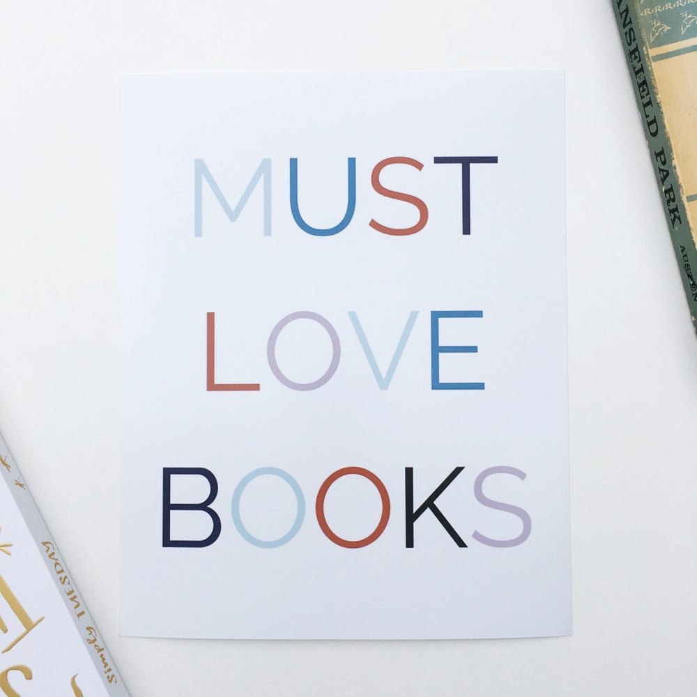 Image of Must Love Books {8 x 10}