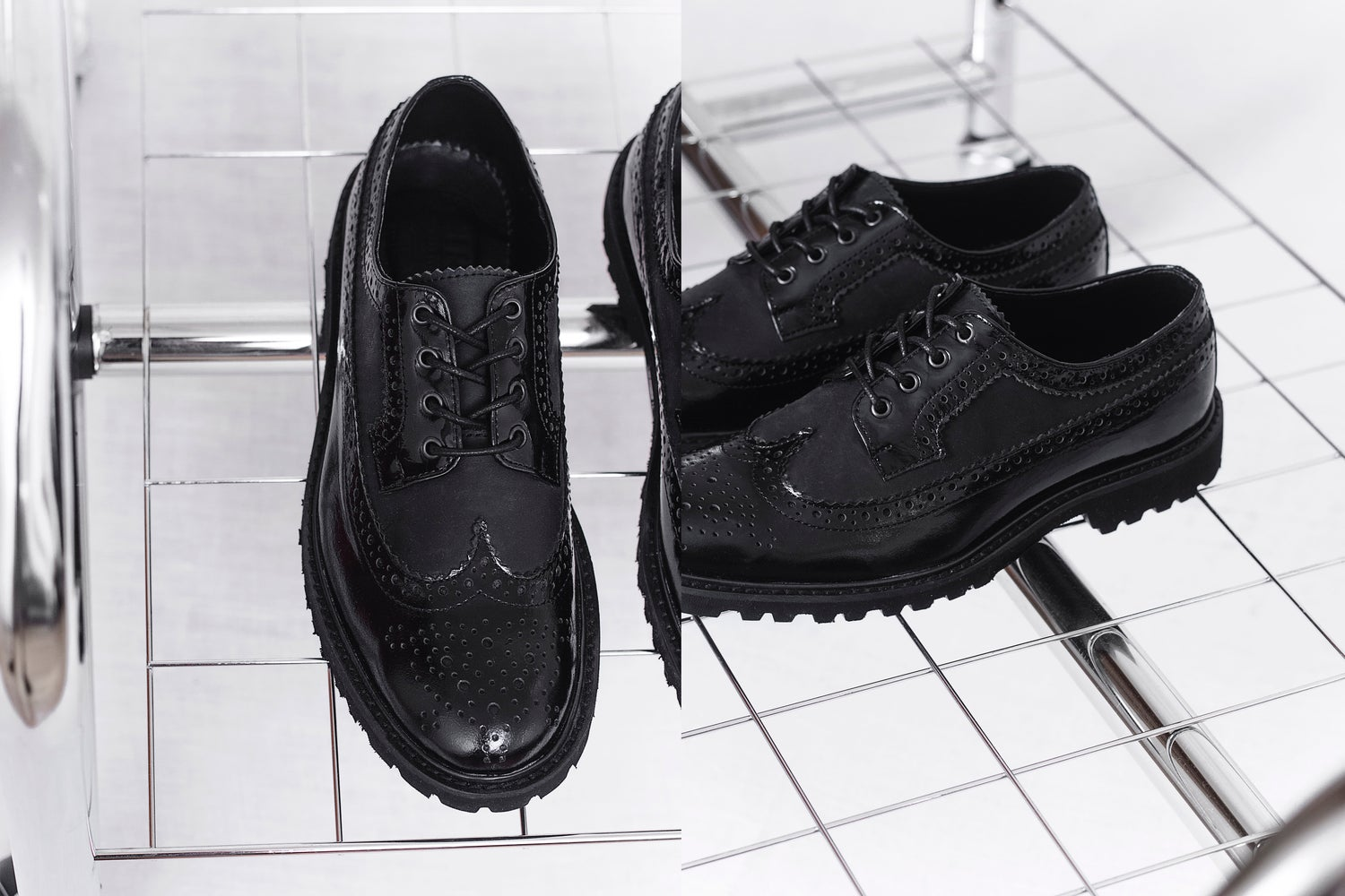 Image of Handmade Shoes | 604 Brogue Wingtip Black Edition