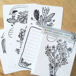 Image of Colouring Card Set, Fun with Flowers