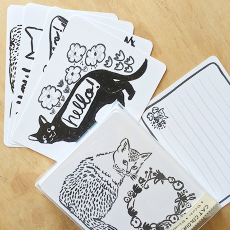 Image of Colouring Card Set, Cats
