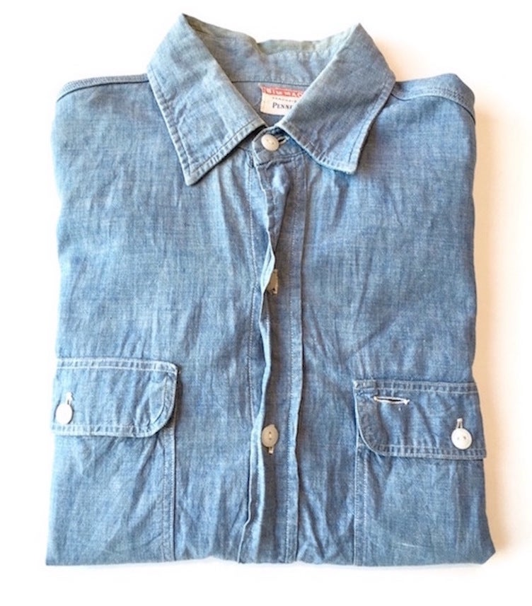 Image of BIG MAC Penney's sanforized chambray shirt