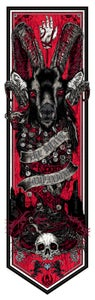Image of THE BRAVE COMPANIONS/BLOODY MUMMERS - Call the Banner series2 - BLACK GOAT print