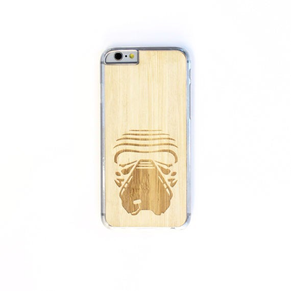 Image of TIMBER Wood Skin Case (iPhone, Samsung Galaxy) : Kylo Ren Edition