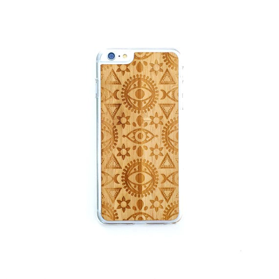 Image of TIMBER iPhone 6 Plus Wood Case : Geometric Eye Edition