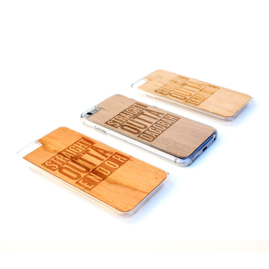 Image of TIMBER Wood Skin Case (iPhone, Samsung Galaxy) : Straight Outta Starwars Edition