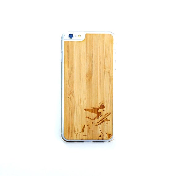 Image of TIMBER Wood Skin Case (iPhone, Samsung Galaxy) : Stormtrooper V2 Edition