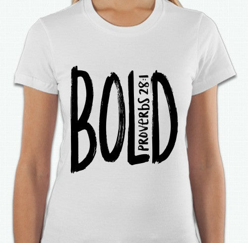 Image of White BOLD tee