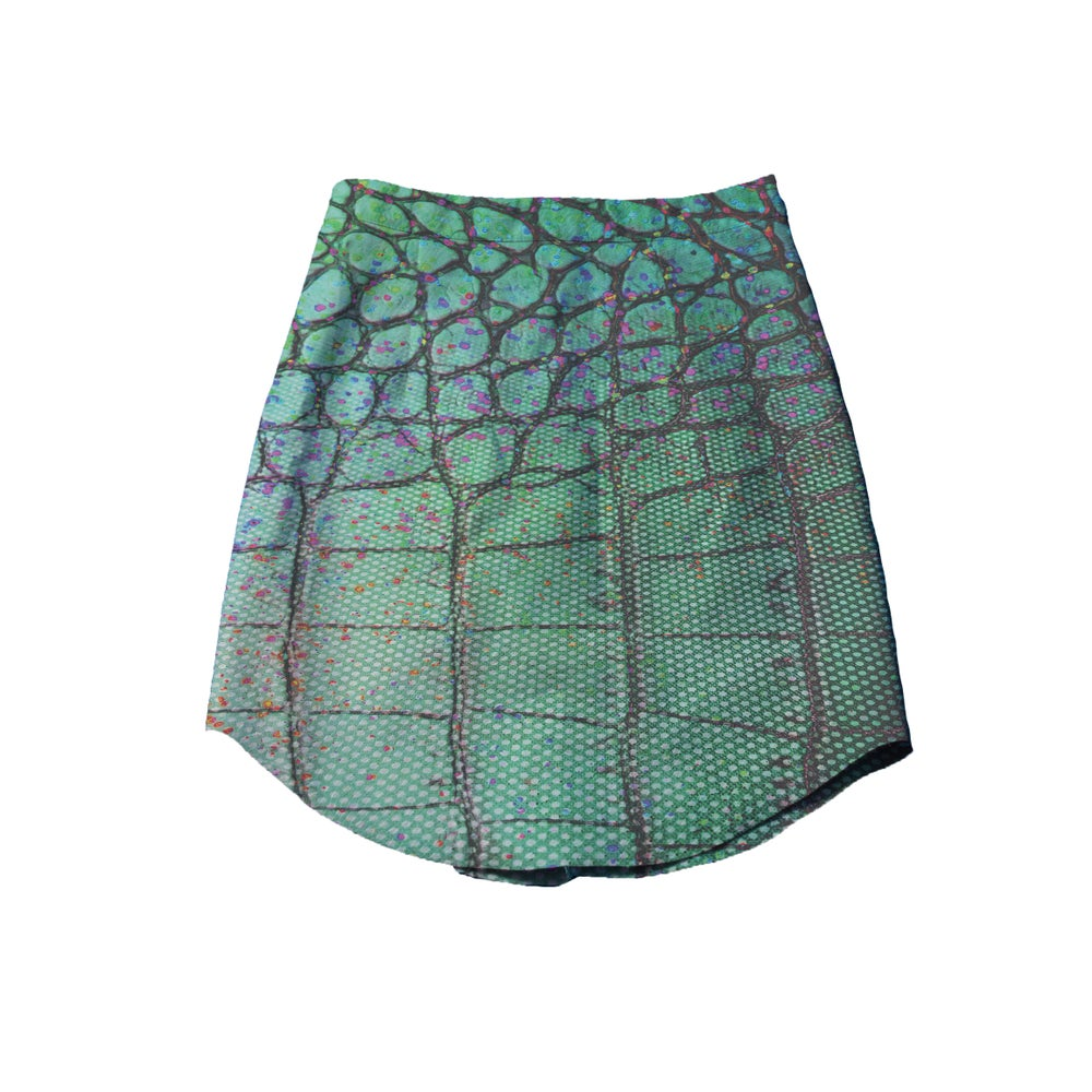 Image of Abstract Leather Skirt