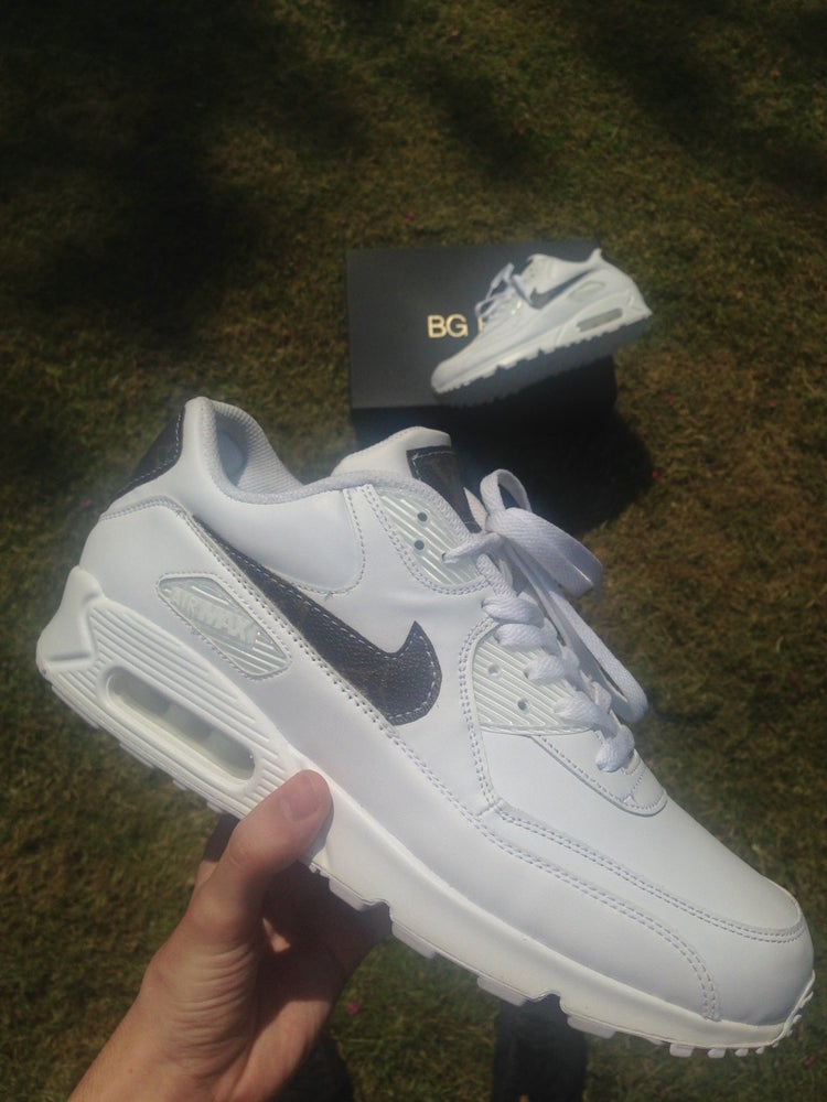 buy sale high fashion wholesale online Custom Louis Vuitton x Nike Air max 90 White / BGBHX