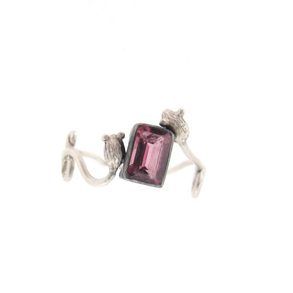 Image of {NEW} Pink Tourmaline Mouse Ring