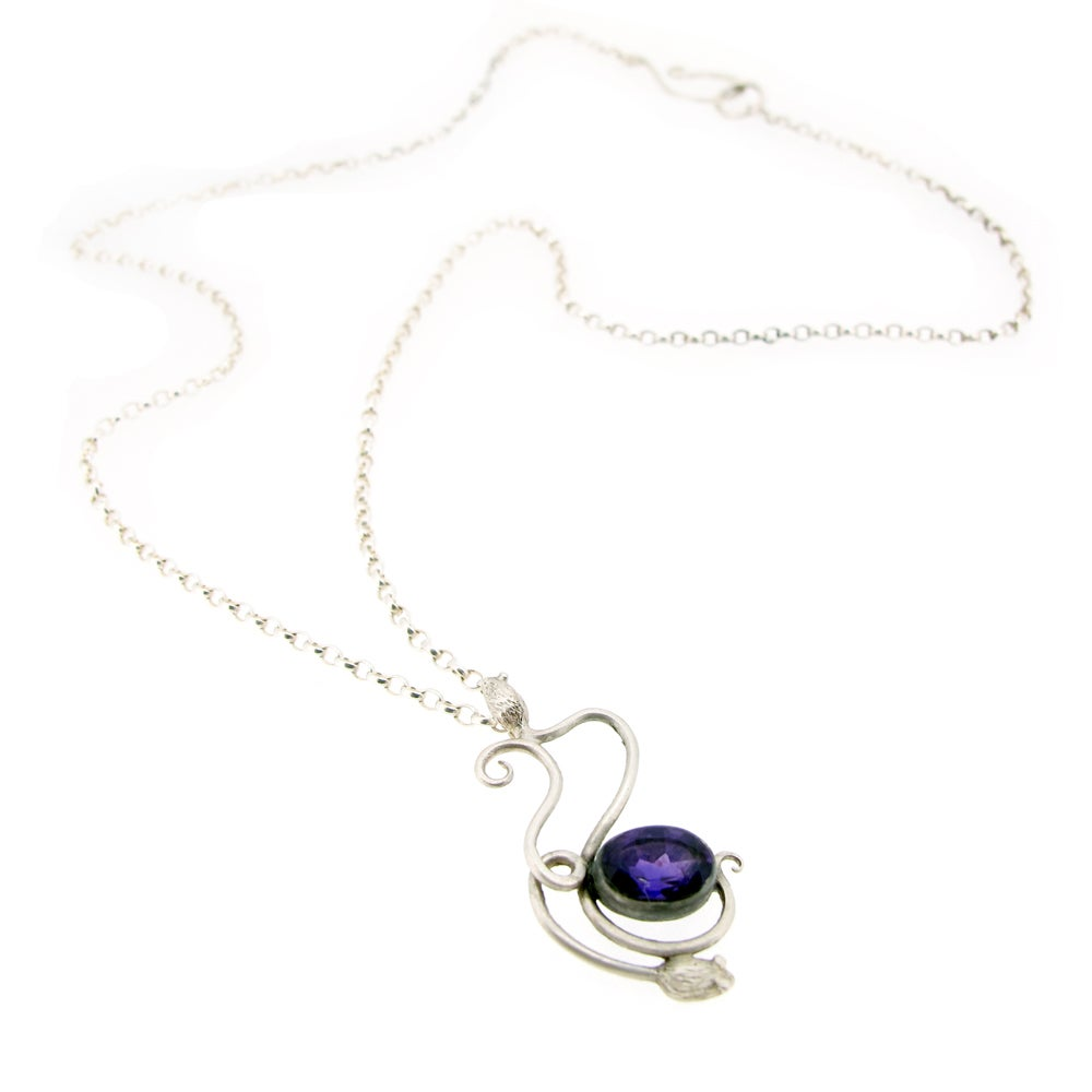 Image of {NEW} Amethyst Mouse Necklace