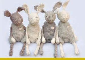 "Image of Crochet Pattern for ""Little Jack Rabbit"" / Häkelanleitung für ""Kleine Heldhasen"""