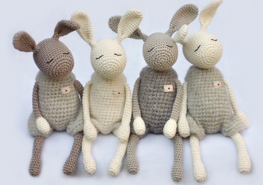 "Image of Softie ""Little Jack Rabbit"" / Kuscheltier ""Kleiner Heldhase"""