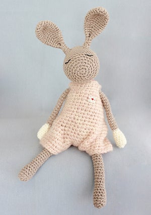 "Image of Softie ""Little Jack Rabbit"" Rosé / Kuscheltier ""Kleiner Heldhase"" Rosé"