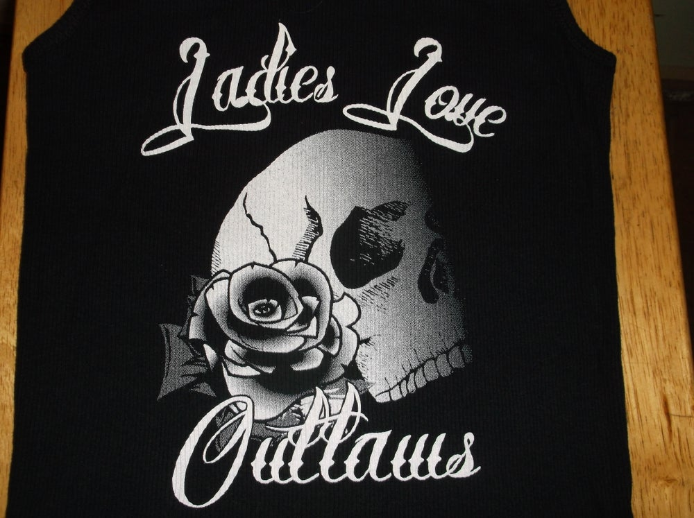Image of Ladies Skull with Rose Baby Doll