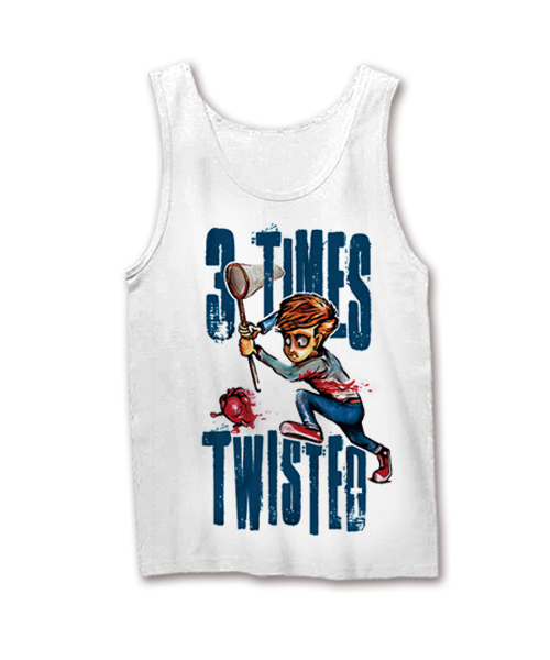 Image of 3 Times Twisted Tanktop - My Heart Bleeds Out, Weiss