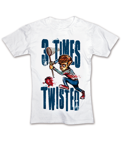 Image of 3 Times Twisted T-Shirt - My Heart Bleeds Out, Weiss