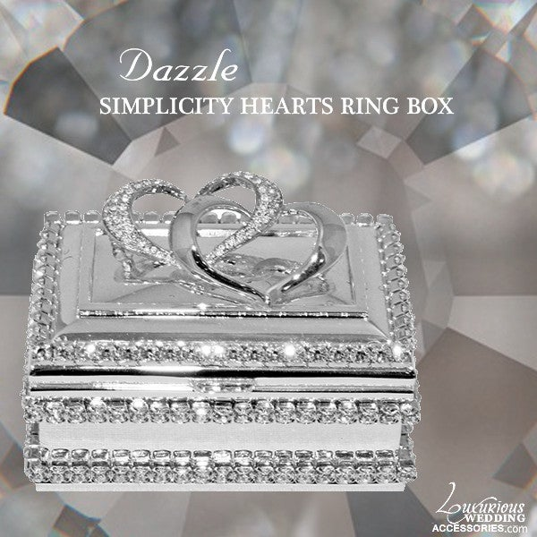 Image of Dazzle Swarovski Crystal Simplicity Heart Ring Box