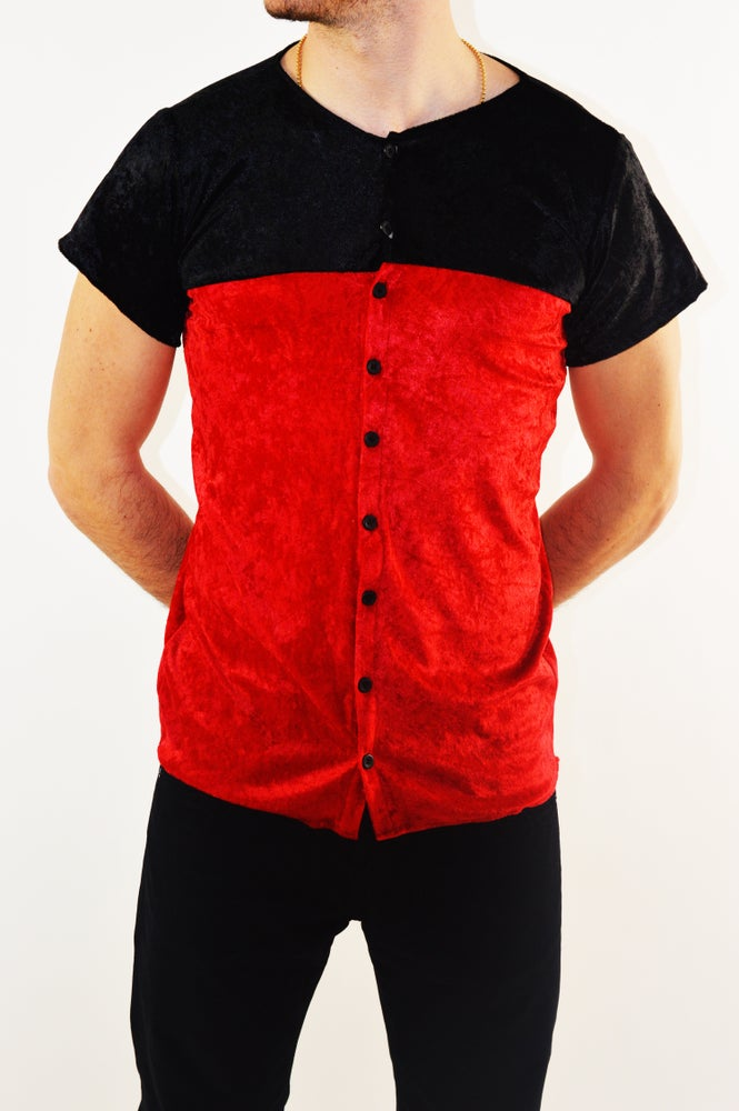 Image of Red On Black Luxury Baseball Jersey