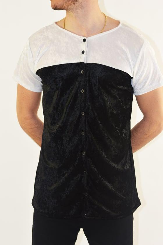 Image of White On Black Luxury Baseball Jersey