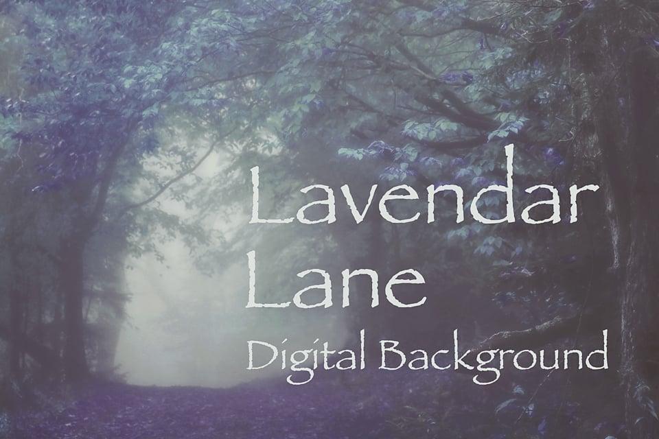 Image of Lavender Lane Digital Background