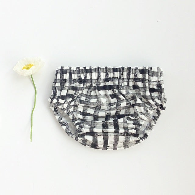 Image of Organic cotton hand painted 'grid' bloomer
