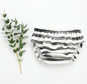 Image of organic cotton hand painted 'striped' bloomer