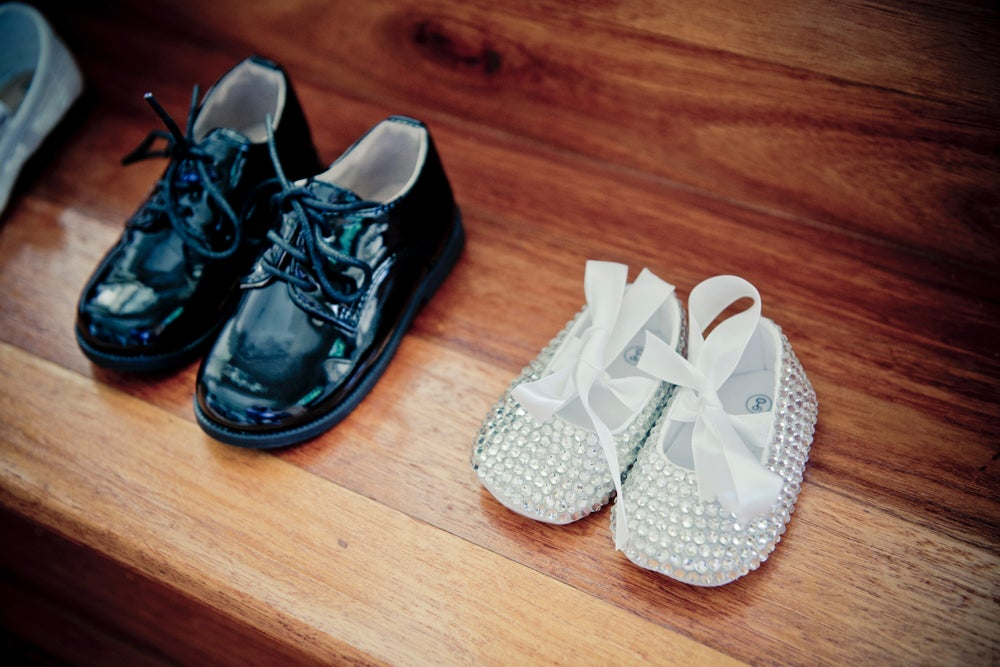 Image of Crystalized baby shoes