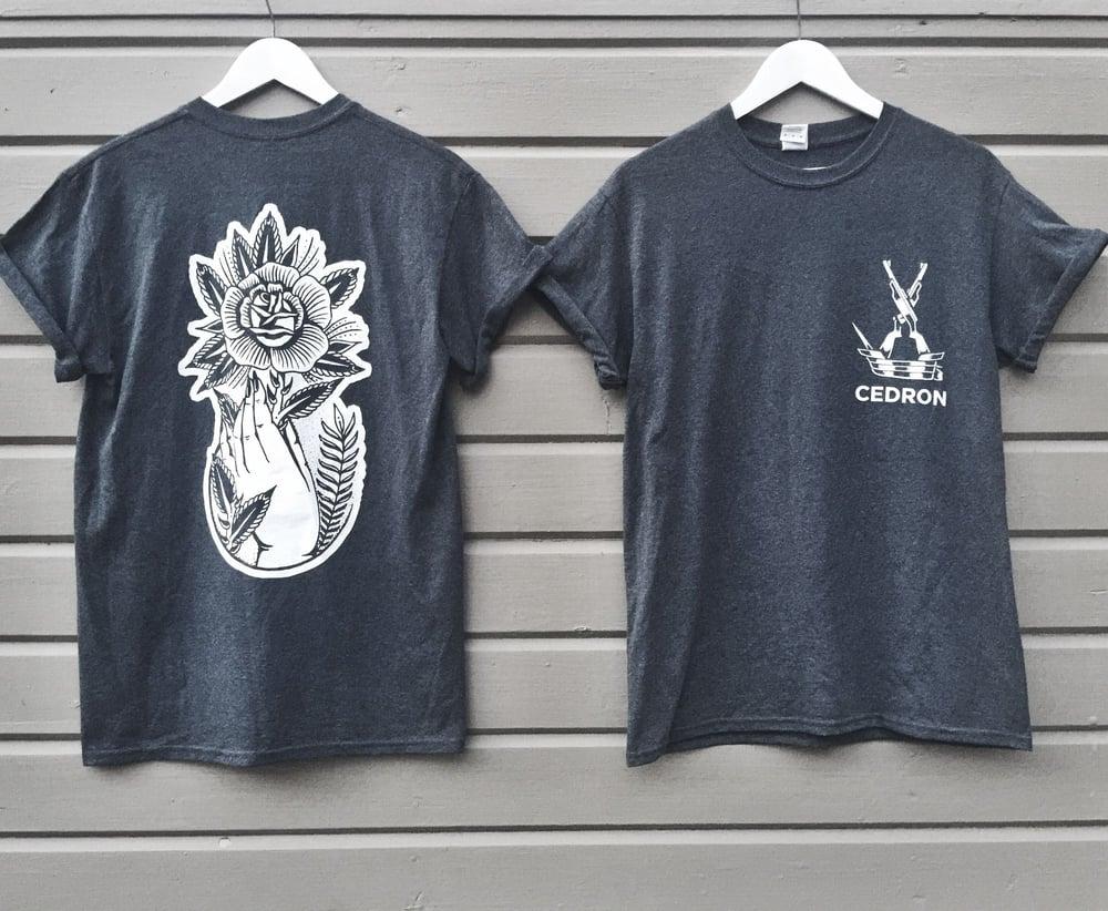 Image of CEDRON - Pale Hand (Dark Grey T-shirt)
