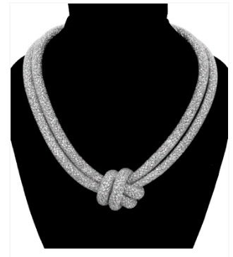 Image of Silver Knot Necklace