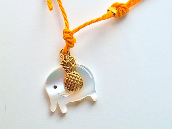 Image of Elephant and pineapple bracelet