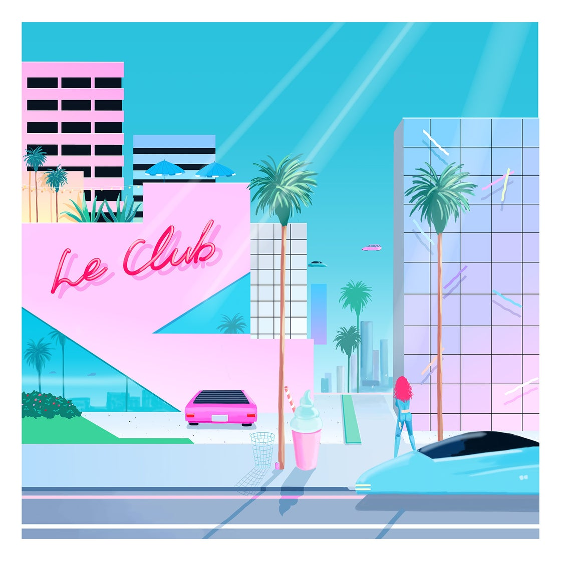 Image of LE CLUB // Double White Vinyl // FREE SHIPPING