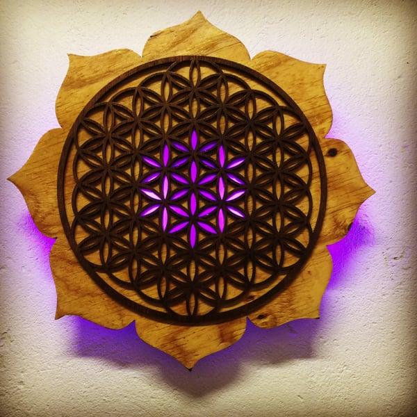 Image of Lotus Flower of Life (LED)