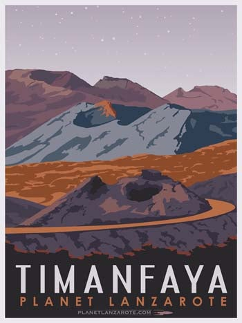 Image of Postcard Ilustration Timanfaya