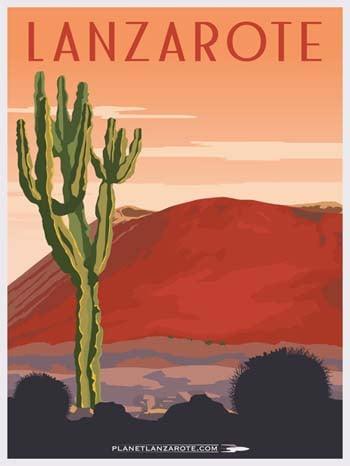 Image of Postcard Ilustration Cactus