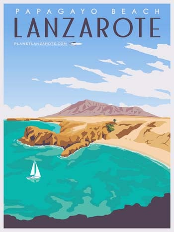 Image of Postcard Ilustration Papagayo