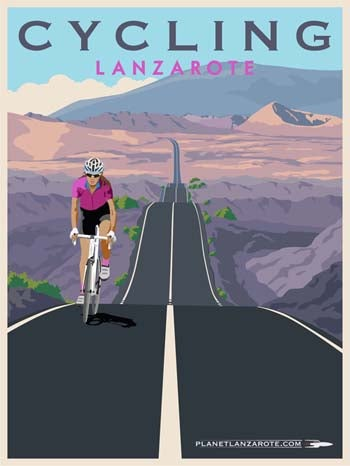 Image of Postcard Ilustration Cycling