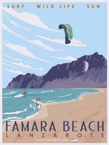 Image of Postcard Ilustration Famara