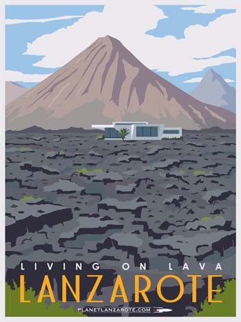 Image of Postcard Ilustration Living On Lava