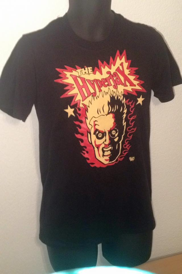 Image of The Hyperjax Screaming Head logo T-Shirt