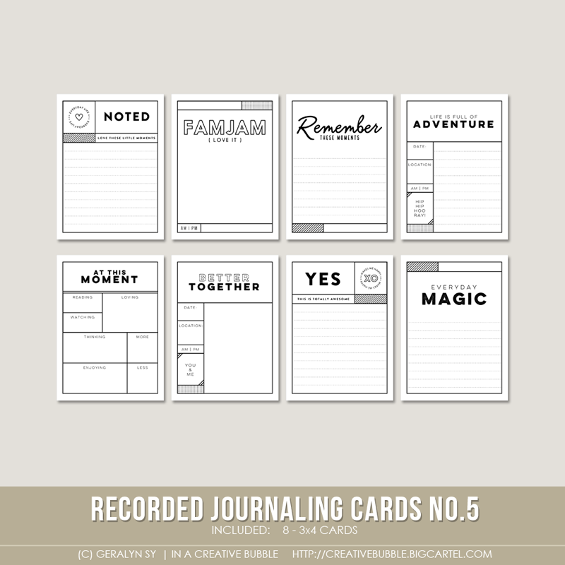 graphic relating to Printable Journaling Cards called Recorded Journaling Playing cards no.5 (Electronic)