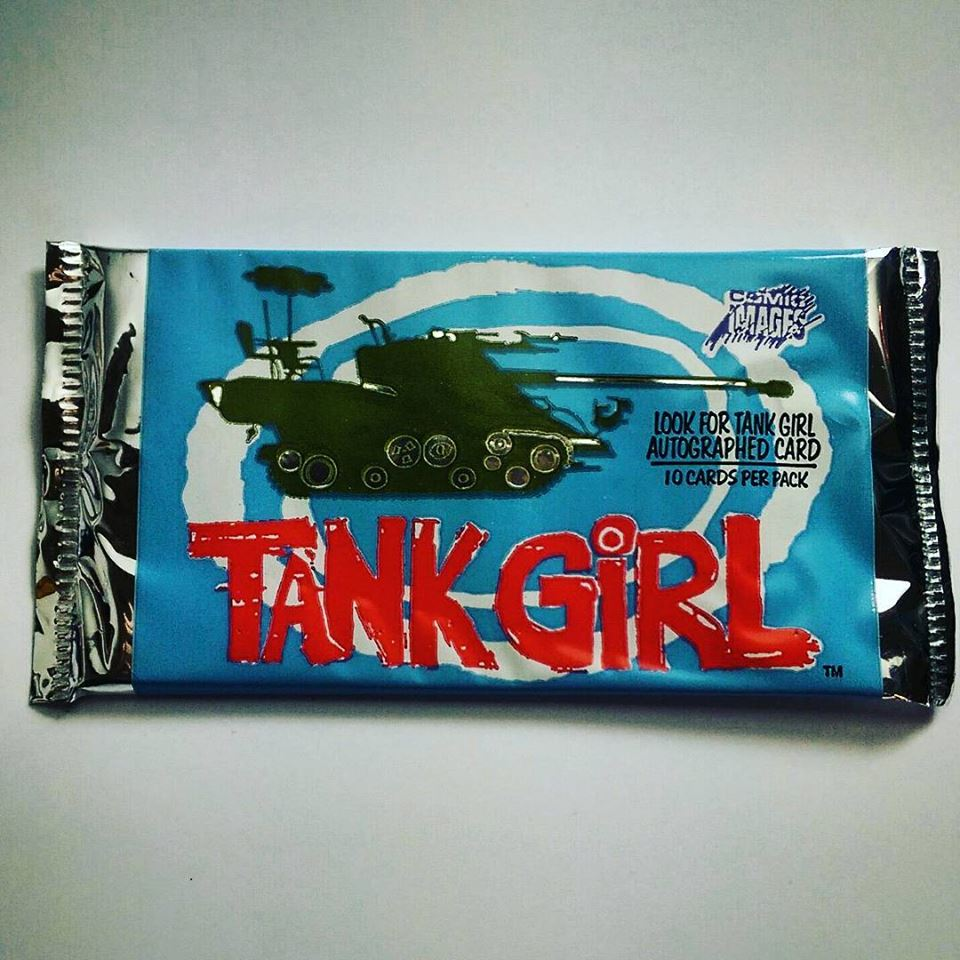 Image of Tank Girl Movie Trade Card Pack (original 1995 merchandise)