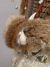 Skull and fur Headdress