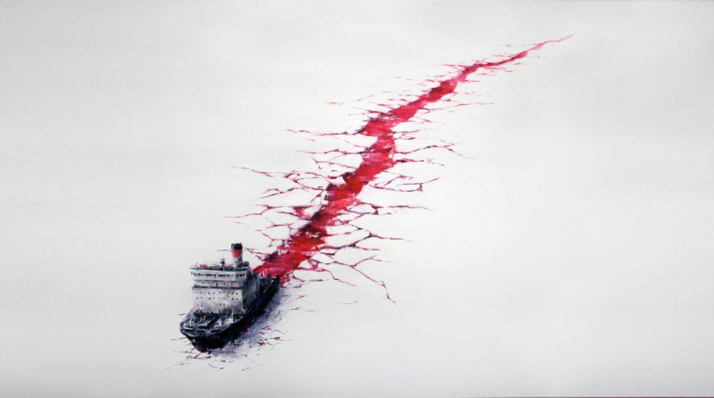 Image of PEJAC - WOUND - 4 COLOUR SCREENPRINT - LTD ED 80 - 100CM X 70CM