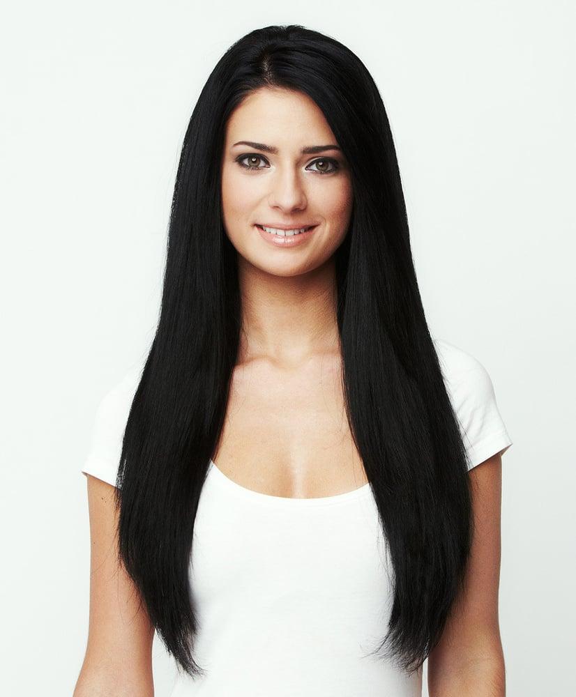 Jet Black 1 Premium 100 Remy Hair Extensions Luxotic Boutique