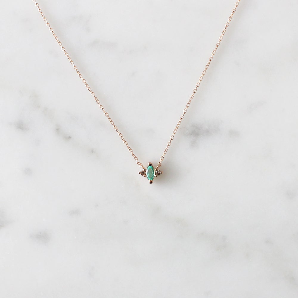 Image of Renee Emerald Necklace