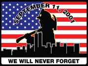 Image of 9/11 Firefighter Car Decal