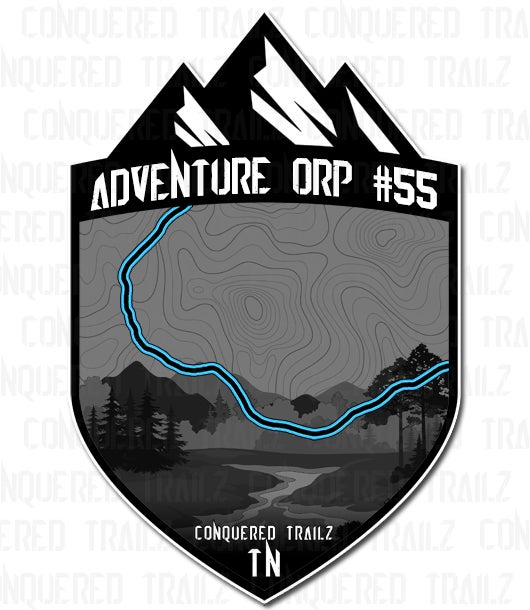 """Image of """"Adventure ORP #55"""" Trail Badge"""