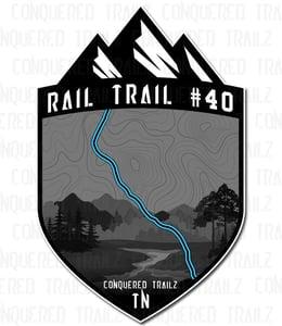 "Image of ""Rail Trail #40"" Trail Badge"